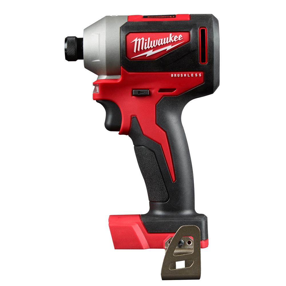 Milwaukee M18 18 Volt Lithium Ion Brushless Cordless 1 4 In Impact