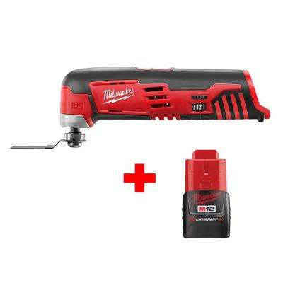 M12 12-Volt Lithium-Ion Cordless Oscillating Multi-Tool with Free M12 2.0Ah Battery