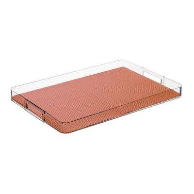 Fishnet Orchid Rectangular Serving Tray