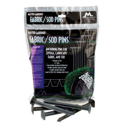 6 in. Anchoring Pins for Landscape Fabric, Sod, and ZipEdge Brand Products, 25-Pack