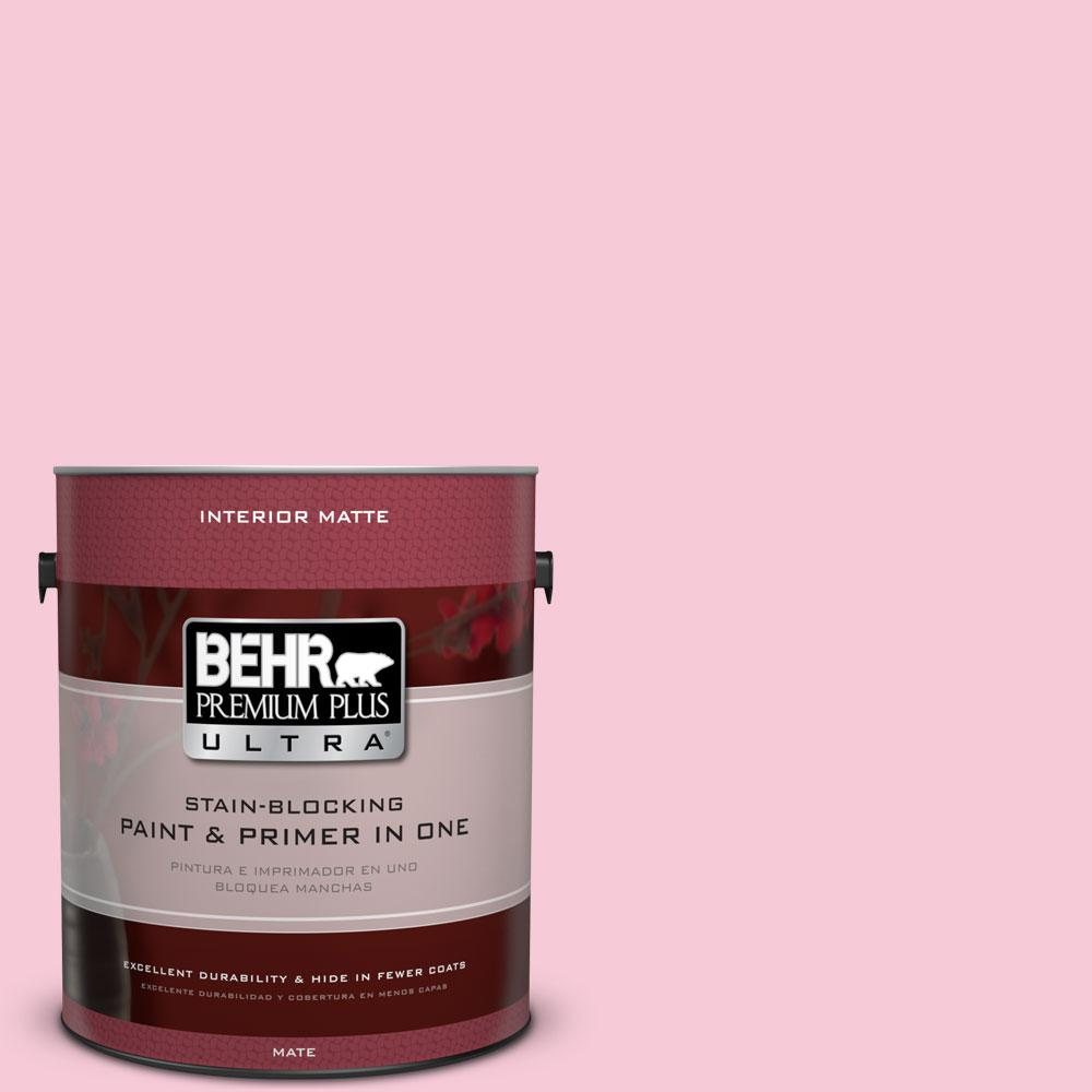 1 gal. #110A-3 Palace Rose Flat/Matte Interior Paint