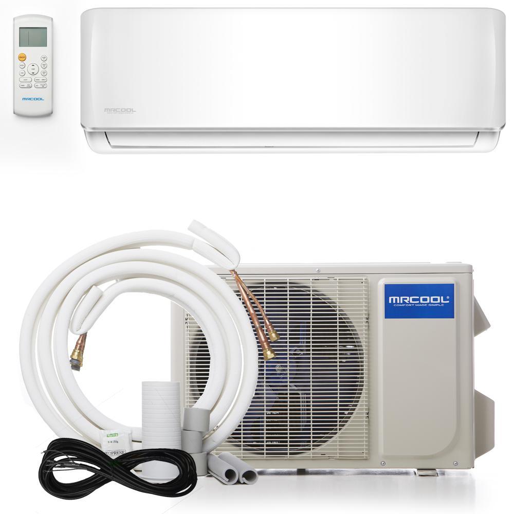 Advantage 9,000 BTU 3/4 Ton Ductless Mini Split Air Conditioner and Heat Pump - 230V/60Hz