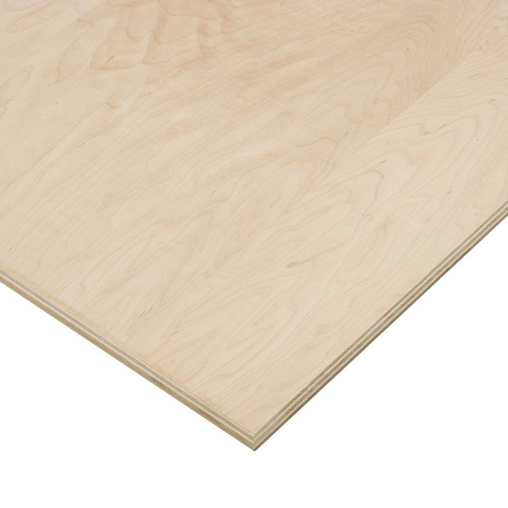 Columbia Forest Products 3/4 in. x 2 ft. x 4 ft. PureBond Maple Plywood Project Panel (Free Custom Cut Available)