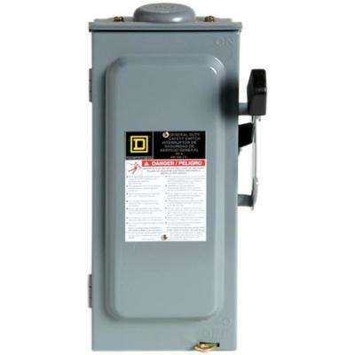 60 Amp 240-Volt 3-Pole 3-Phase Non-Fuse Outdoor General Duty Safety Switch