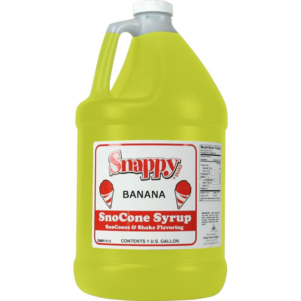 Snow Cone Syrup. 1 Gal. Banana