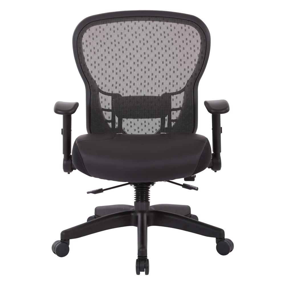 Office Star Products Black Matrix Ergonomic Office Chair in Bonded Leather  with Memory Foam Plush Seat-344-ME34R34N34F34 - The Home Depot