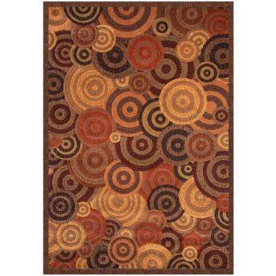 Essentials Optima Rust 5 ft. 3 in. x 7 ft. 6 in. Area Rug