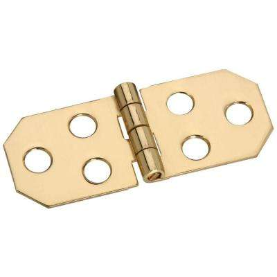 3/4 in. Solid Brass Ornamental Hinge