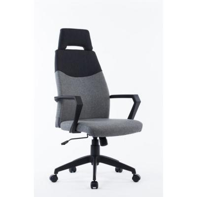 Valerie Grey and Black Fabric Plastic and Steel Office Chair