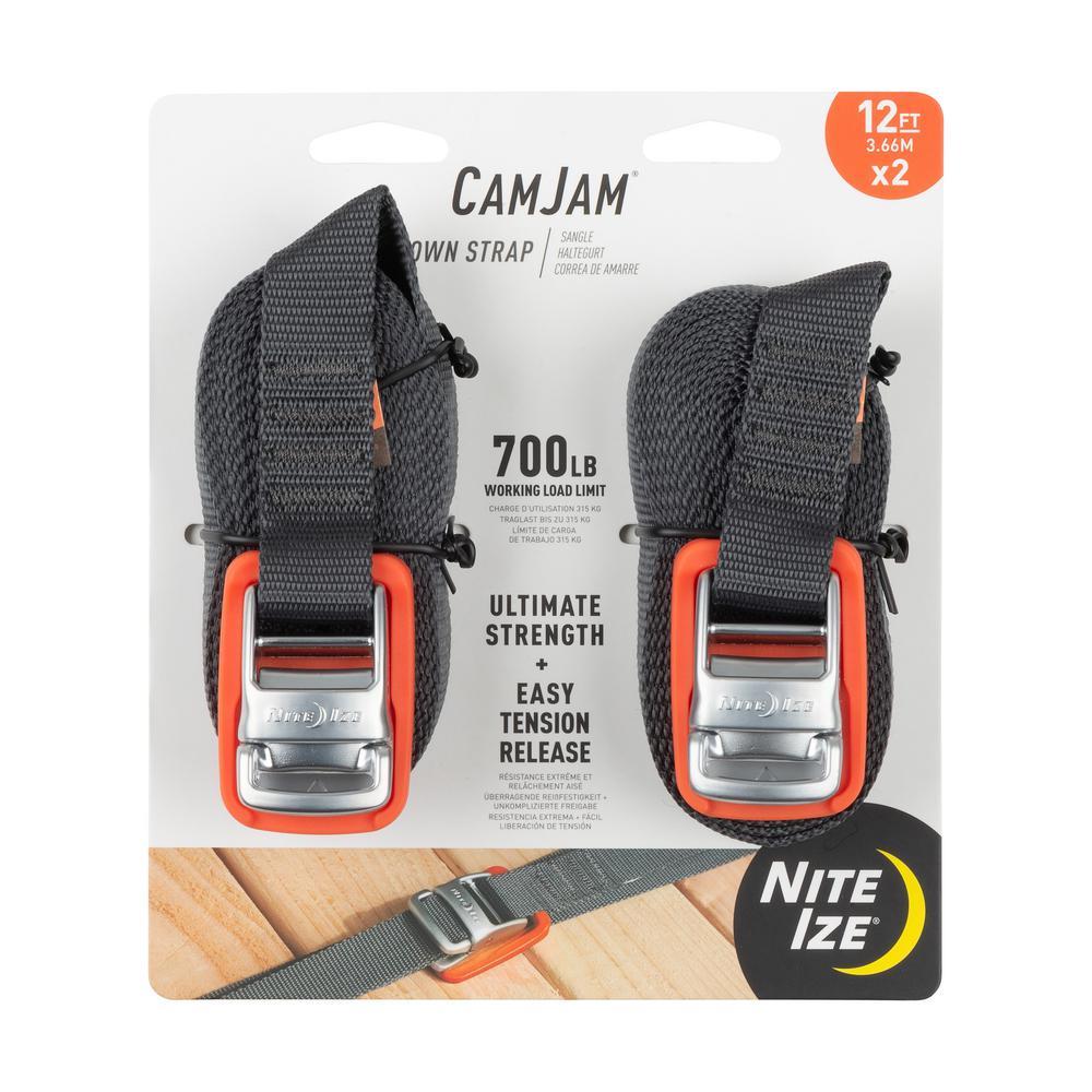 Nite Ize CamJam 12 ft. Tie Down Strap (2-Pack)