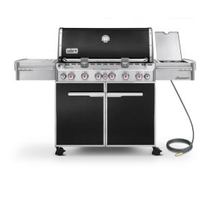 Weber Summit E-670 6-Burner Natural Gas Grill in Black with Built-In Thermometer and Rotisserie by Weber