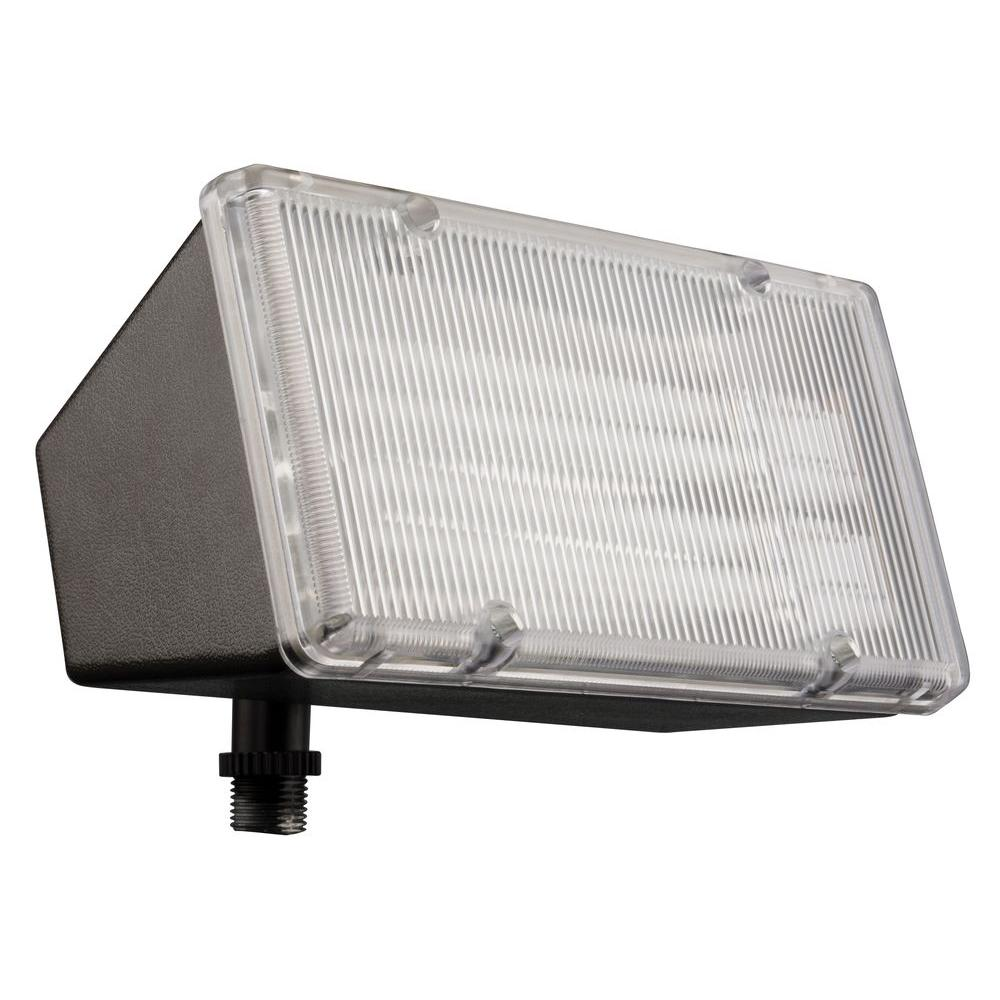 2-Light Wall-Mount Outdoor Bronze Mini-Flood Light