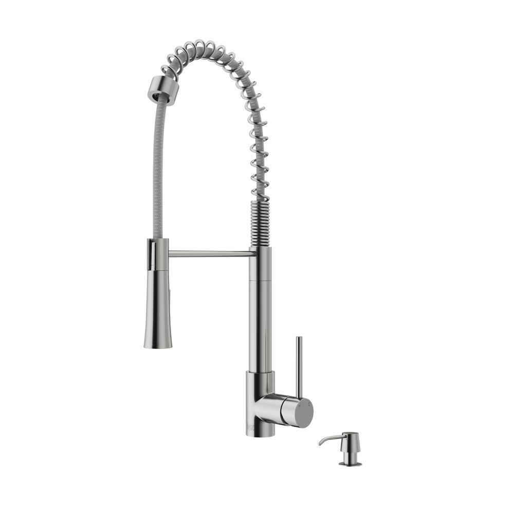 Vigo Zurich Stainless Steel Pull Down Spray Kitchen Faucet