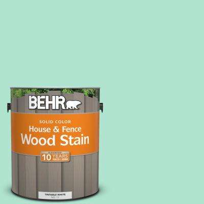1 gal. #P420-2 Crystal Rapids Solid House and Fence Exterior Wood Stain