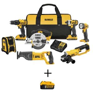 20-Volt MAX Lithium-Ion Cordless Drill/Driver Combo Kit (7-Tool) with 20-Volt MAX Premium Lithium-Ion (1) 5.0Ah Battery