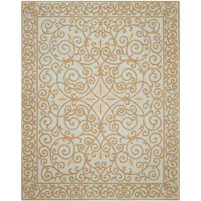 Chelsea Light Blue 8 ft. 9 in. x 11 ft. 9 in. Area Rug