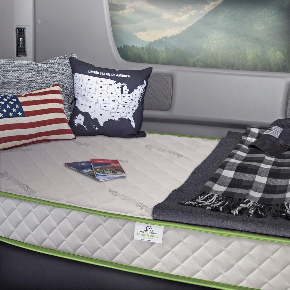 RV Luxury Deluxe Short Queen Memory Foam 8 in. Mattress