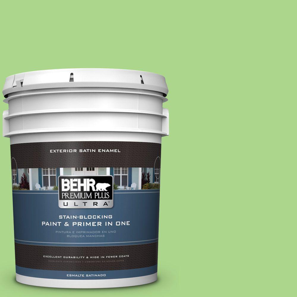 BEHR Premium Plus Ultra 5-gal. #430B-4 Peas in a Pod Satin Enamel Exterior Paint