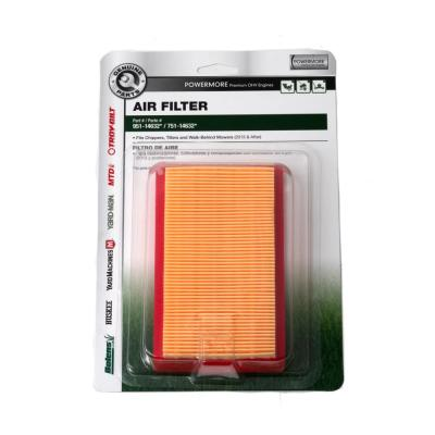 Air Filter For Troy-Bilt 159 cc Premium OHV Engines OE # 751-14632 and 951-14632