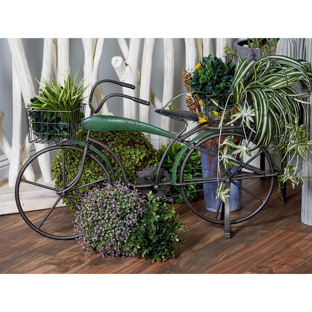 Green Iron Garden Bike Planter
