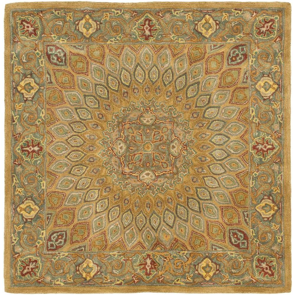 Safavieh Heritage Light Brown Grey 10 Ft X Square Area Rug