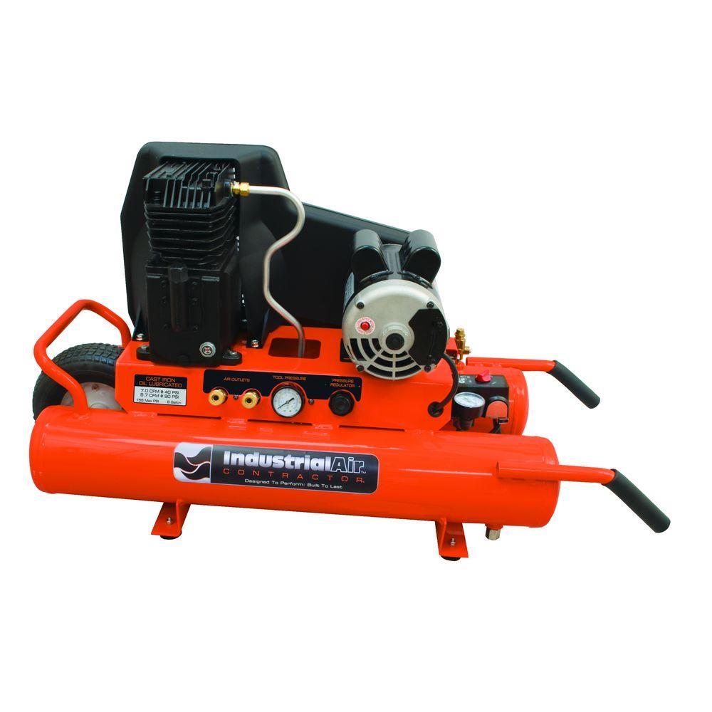 Industrial Air 8-Gal. Portable Electric Air Compressor-DISCONTINUED