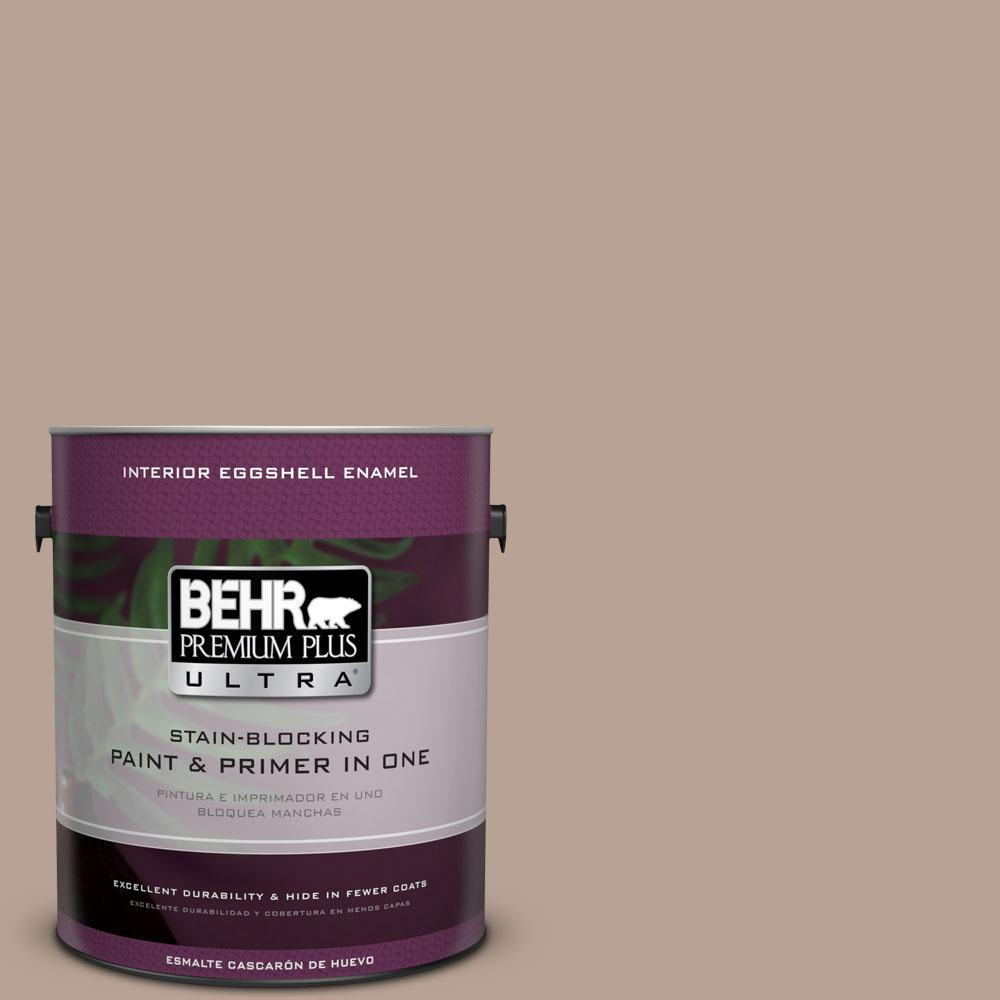 BEHR Premium Plus Ultra 1-gal. #N190-4 Rugged Tan Eggshell Enamel Interior Paint