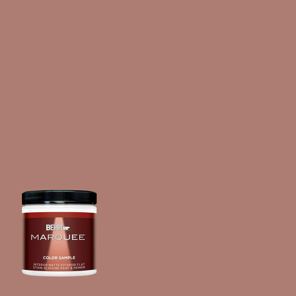 Ppu2 11 Mars Red One Coat Hide Matte Interior Exterior Paint And Primer In Sample