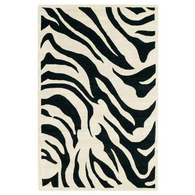Zebra Black 2 ft. x 3 ft. Area Rug