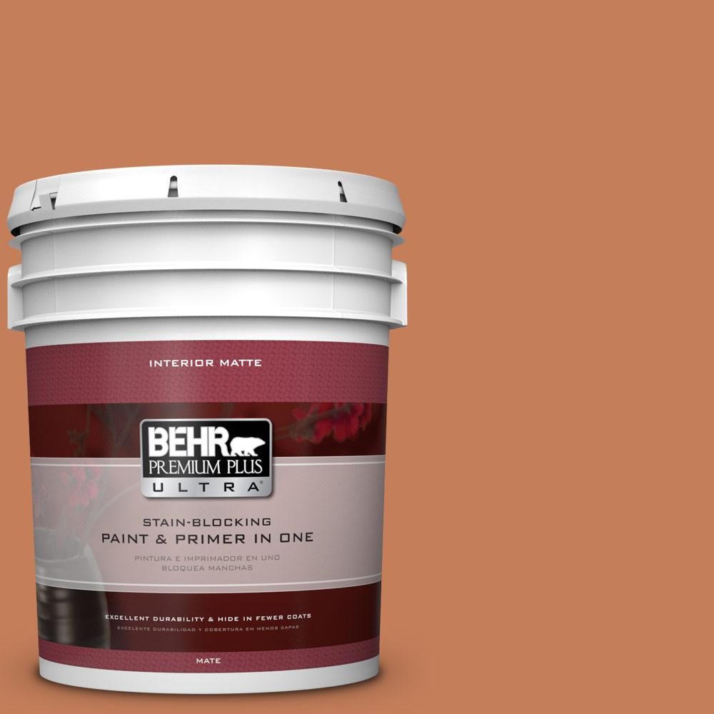 BEHR Premium Plus Ultra 5 gal. #M210-6 Orange Liqueur Matte Interior Paint
