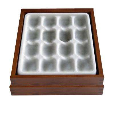 Stack'em 9 in. x 1-1/2 in. Brown Stackable 16 Compartment Wood Jewelry Organizer for Rings and Earrings (2-Pack)