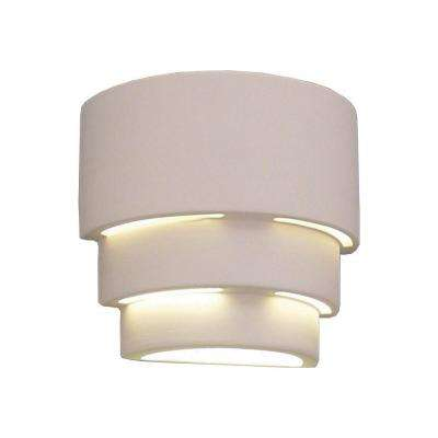Incandescent hardware included pick up today outdoor wall daniel paintable bisque ceramic outdoor wall sconce aloadofball Choice Image