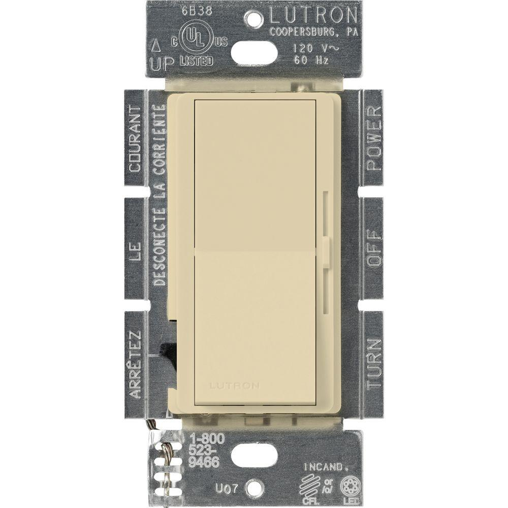 Lutron Diva C.L Dimmer for Dimmable LED, Halogen and Incandescent Bulbs, Single-Pole or 3-Way, Ivory