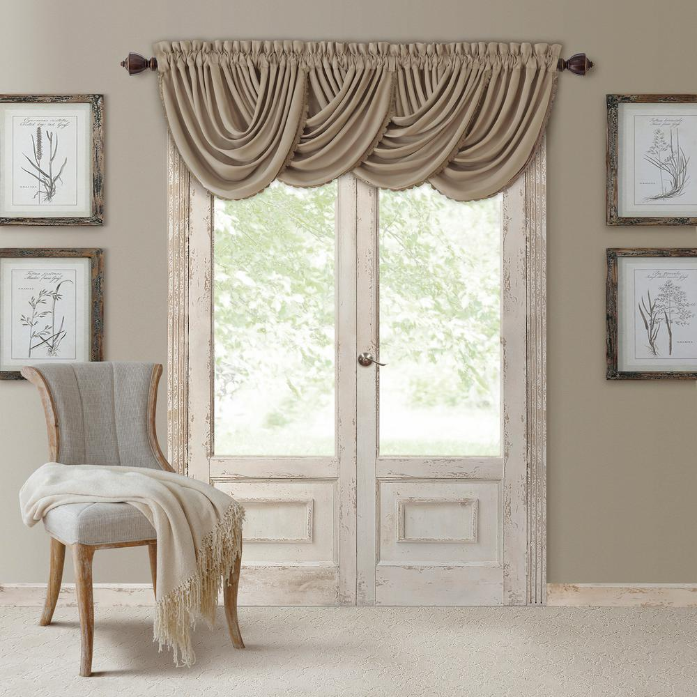 Elrene All Seasons Waterfall Window Valance-026865854251