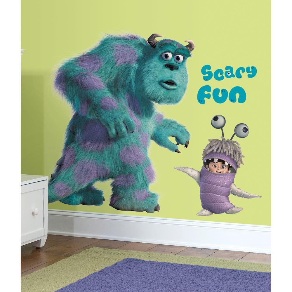 27 in x 40 in monsters inc giant sully and boo 18 piece peel and monsters inc giant sully and boo 18 amipublicfo Choice Image