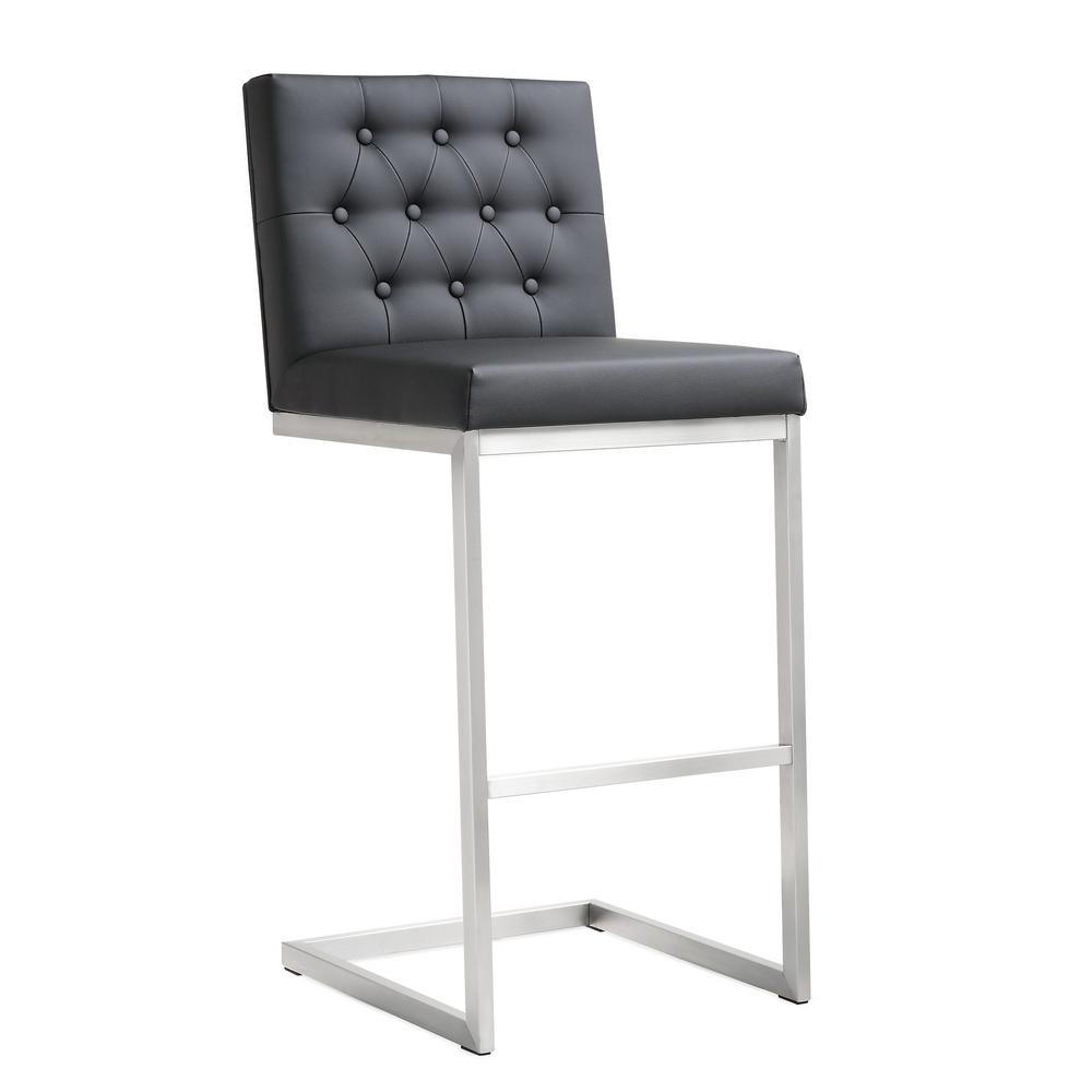 Tov Furniture Helsinki Black Steel Barstool Set Of 2 Tov