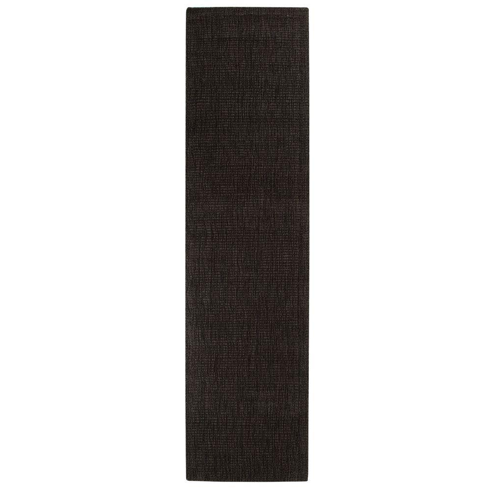 Home Decorators Collection Simplify Black 2 ft. 9 in. x 14 ft. Runner