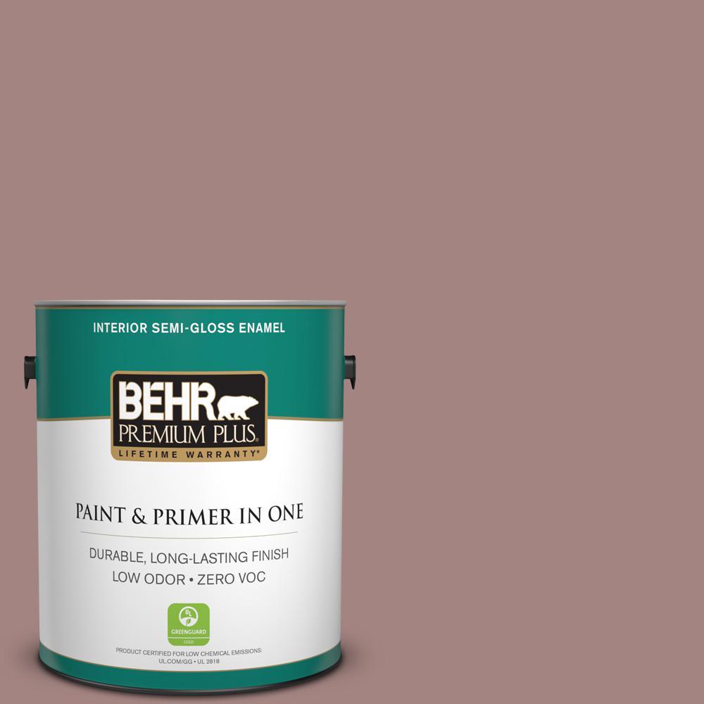 BEHR Premium Plus 1-gal. #700B-4 Muse Zero VOC Semi-Gloss Enamel Interior Paint