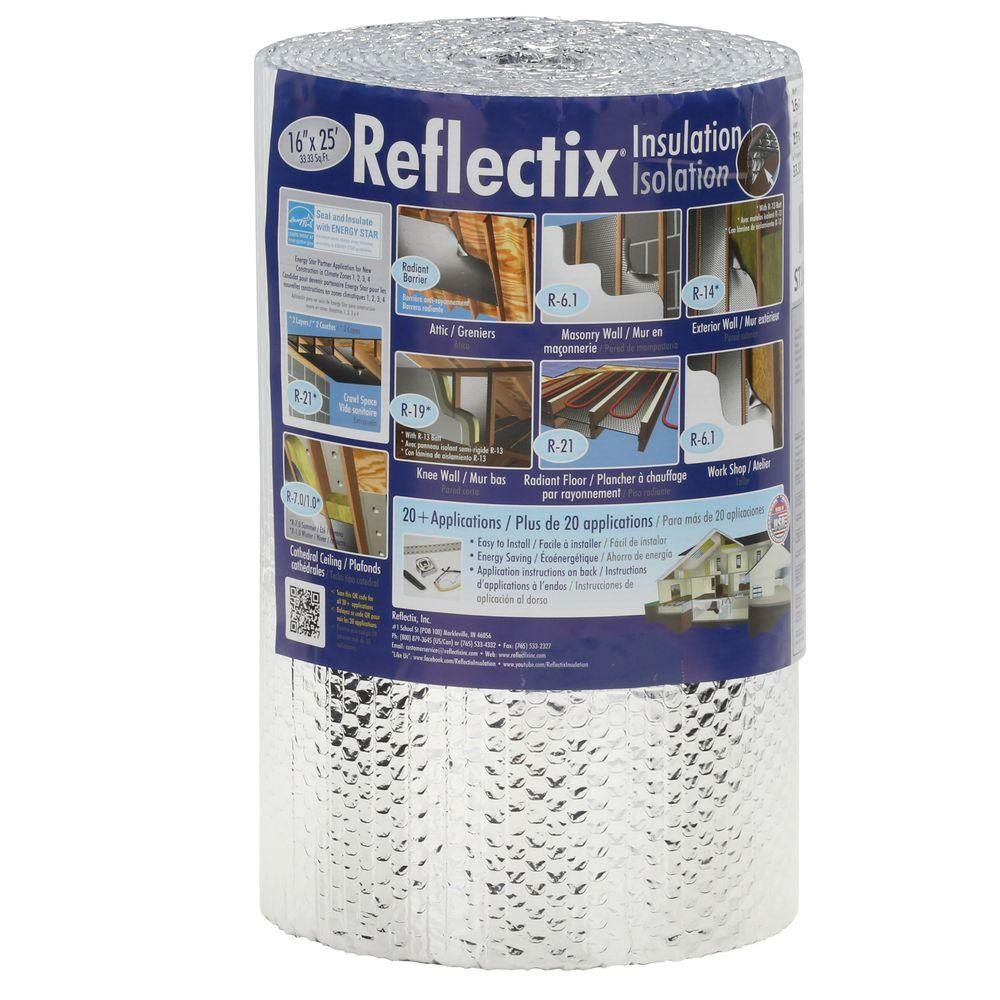 Reflectix 16 In X 25 Ft Double Reflective Insulation Roll With