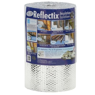 16 in. x 25 ft. Double Reflective Insulation Roll with Staple Tab Edge