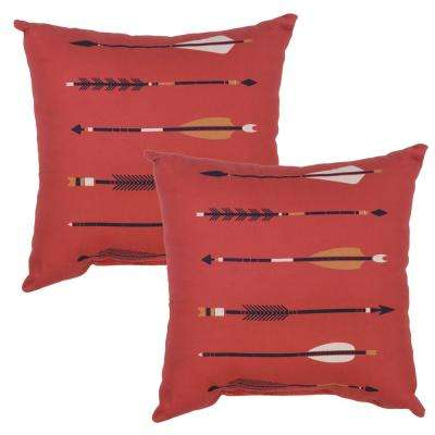 Arrow Square Outdoor Throw Pillow (2-Pack)