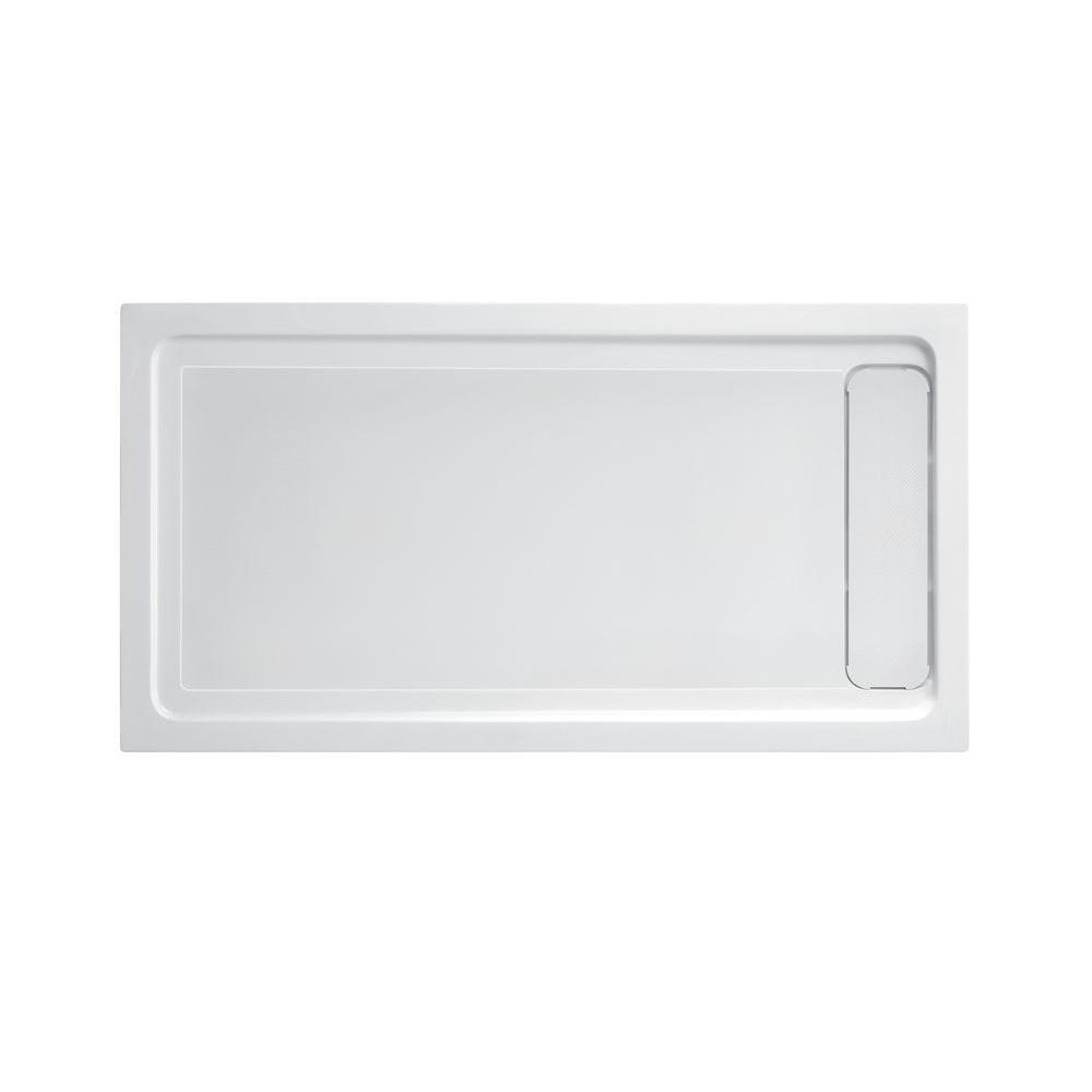 32 in. x 60 in. Single Threshold Shower Base with Side