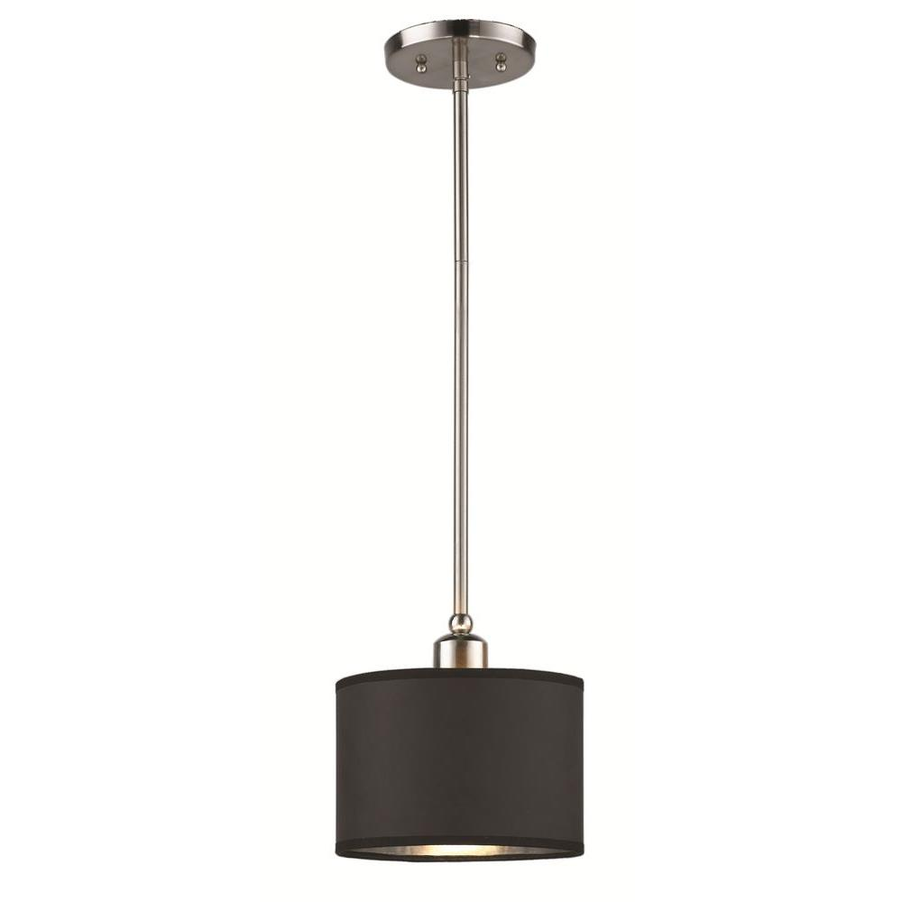 Murray 1-Light Brushed Nickel Hanging Mini Pendant
