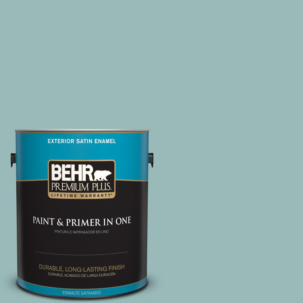 1 gal. #PPU12-06 Lap Pool Blue Satin Enamel Exterior Paint