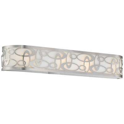 Links 4-Light Brushed Nickel Bath Light
