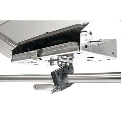Single Horizontal Round Rail (SD) Mount for 12 in. x 18 in. or Smaller Rectangular Grills and Single Mount Tables
