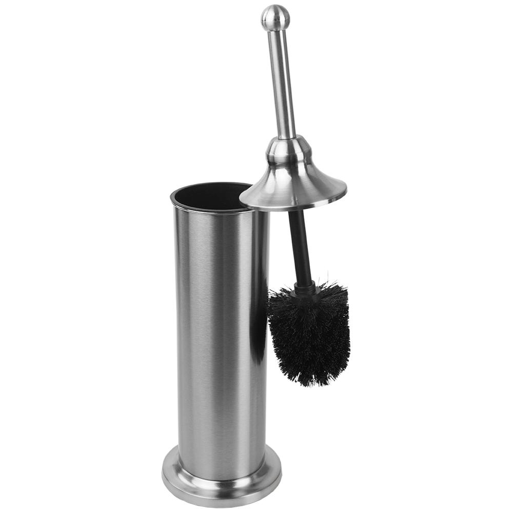 17.5 in. Stainless Steel Heavy Base Toilet Brush and Holder