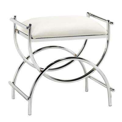 Curve 20.5 in. W x 13.5 in. D Vanity Bench in Chrome