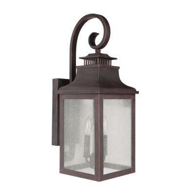 Morgan 2-Light Rustic Bronze Outdoor Sconce