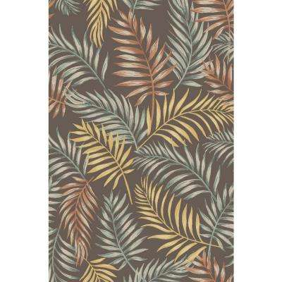 Adaline Collection Botanic Earth 5 ft. x 6 ft. 6 in. Non-Skid Soft Anti-Bacterial Area Rug